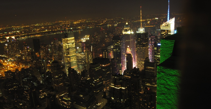 night view from empire state building new york